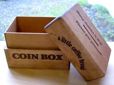 コインボックス 蓋開け
