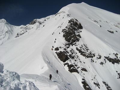 第二岩峰を抜けた上の急登
