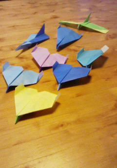 紙飛行機 集合