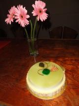 錦・赤いぶどうの誕生石ケーキ