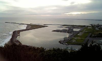 飯岡港を望む