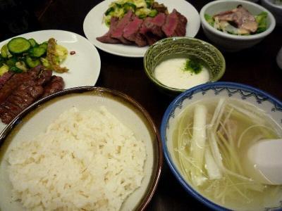 5.麦飯とテールスープ