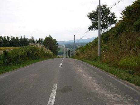 *4.5km続く直線道路*