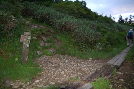 2朝日山頂からの登山道と合流8