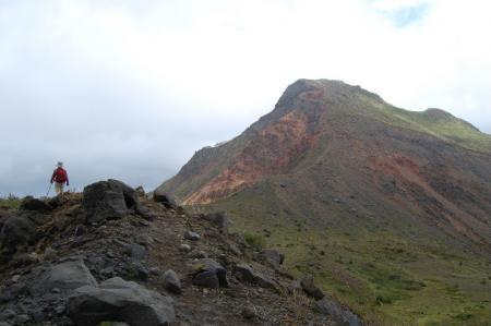 櫛が峰を見ながら下山42