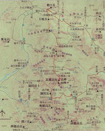 槍・穂高地図