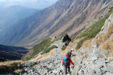 3岳沢へ26