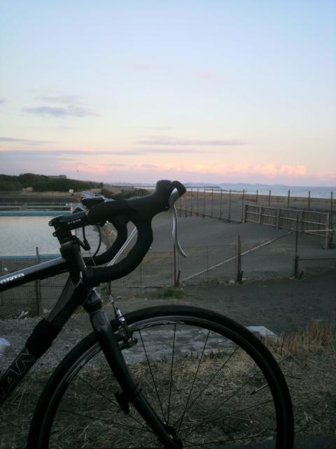 2011.3.10 平塚海とR3ドロップバーと夕日