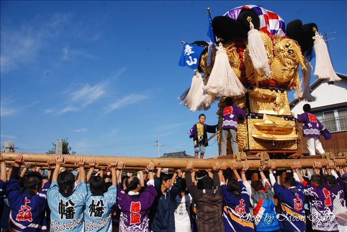 西条祭り 難波子供太鼓台 禎瑞嘉母神社祭礼宮だし 西条市禎瑞 2009年10月11日