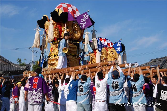 西条祭り 八幡子供太鼓台 禎瑞嘉母神社祭礼宮だし 西条市禎瑞 2009年10月11日