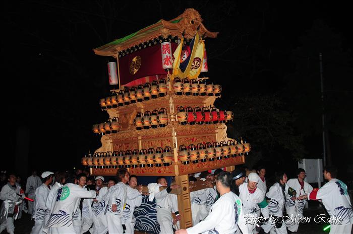 (西条祭り 2009 伊曽乃神社祭礼関係) 宮出し 清水町だんじり(屋台) 2009年10月15日