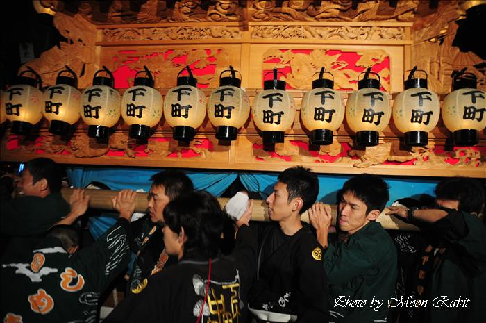 (西条祭り 2009 伊曽乃神社祭礼関係) 宮出し 下町中組だんじり(屋台) 2009年10月15日