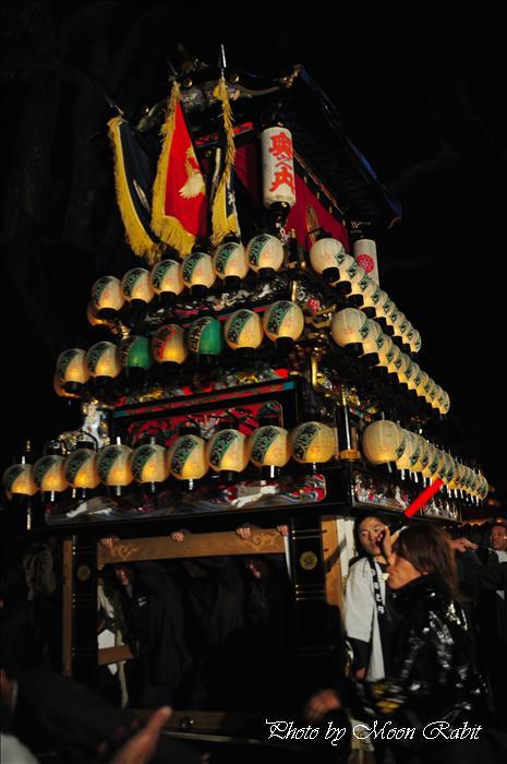 (西条祭り 2009 伊曽乃神社祭礼関係) 宮出し 奥之内だんじり(屋台) 2009年10月15日