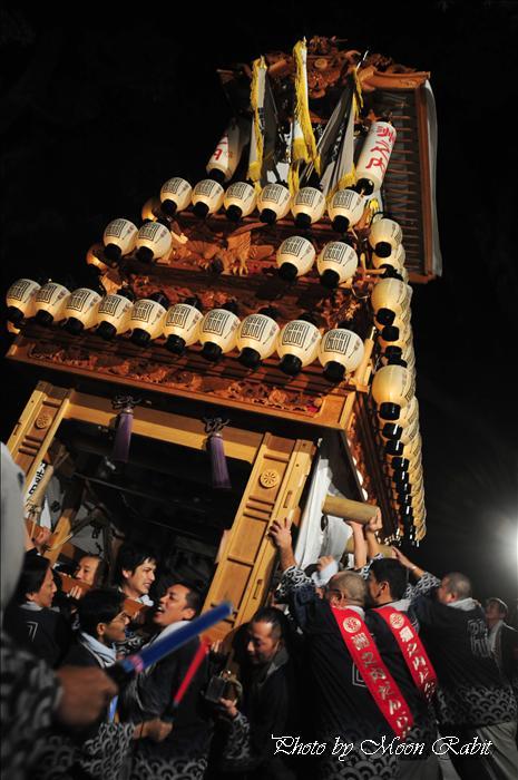 (西条祭り 2009 伊曽乃神社祭礼関係) 宮出し 洲之内だんじり(屋台) 2009年10月15日