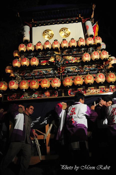 (西条祭り 2009 伊曽乃神社祭礼関係) 宮出し 東原だんじり(屋台) 2009年10月15日