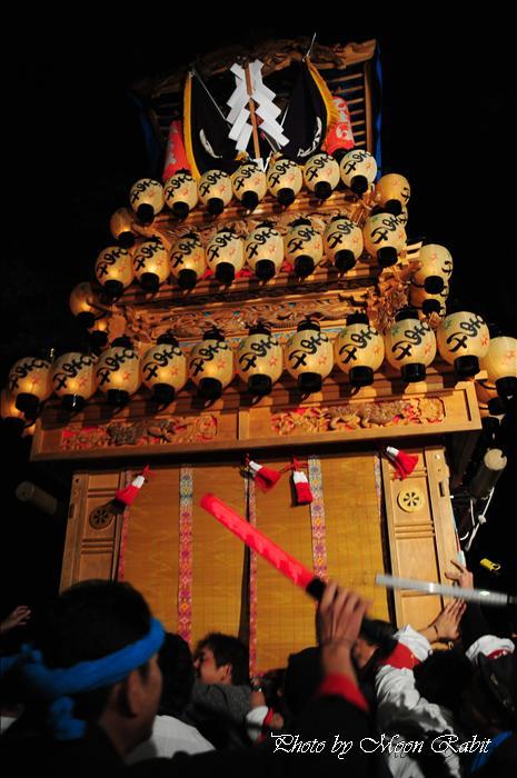 (西条祭り 2009 伊曽乃神社祭礼関係) 宮出し 日明だんじり(屋台) 2009年10月15日