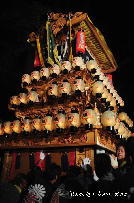(西条祭り 2009 伊曽乃神社祭礼関係) 宮出し 楠だんじり(屋台) 2009年10月15日