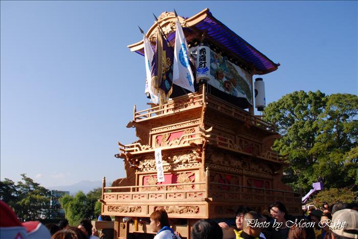 (西条祭り 2009 伊曽乃神社祭礼関係) 御殿前 花園町・上川原だんじり(屋台) 2009年10月16日