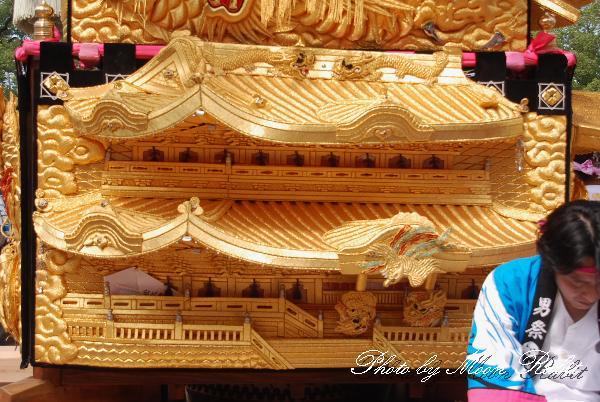 長野太鼓台の飾り幕 新居浜太鼓祭り 上部船木地区 船木神社 山根グラウンド上部太鼓よせ 愛媛県新居浜市 2010年10月16日