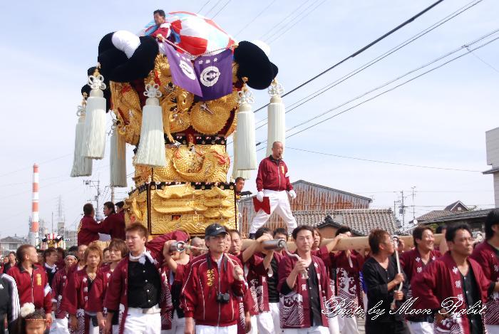 中須賀太鼓台 船御幸 新居浜太鼓祭り2010 愛媛県新居浜市 2010年10月18日