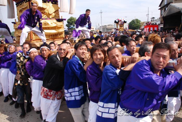 西原太鼓台 船御幸 新居浜太鼓祭り2010 愛媛県新居浜市 2010年10月18日