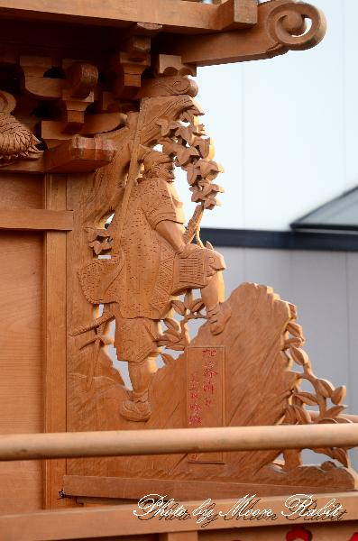 西条祭り関係2011 駅西だんじり(駅前西大通り屋台)の胴板・隅障子など 伊曽乃神社祭礼 2011年10月2日