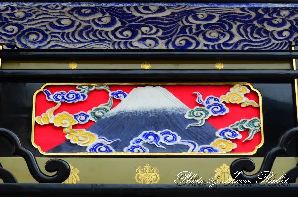 西条祭り関係2011 古屋敷だんじり(屋台)の胴板・隅障子・乳隠など 伊曽乃神社祭礼 2011年10月2日
