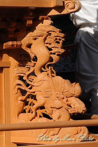 西条祭り関係2011 若葉町だんじり(屋台)の胴板・隅障子・乳隠など 伊曽乃神社祭礼 2011年10月2日