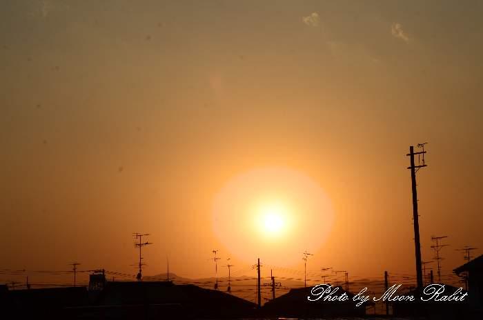 西条市 ホームセンターハルク付近の夕景色 愛媛県西条市神拝甲584