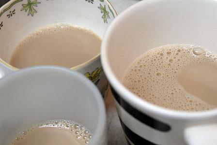ミルクたっぷりのチャイ