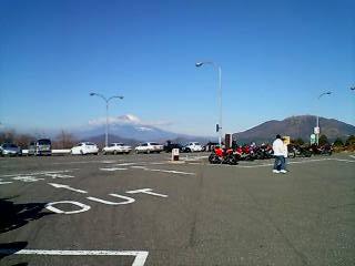 綺麗に見える富士山! でも寒い~!