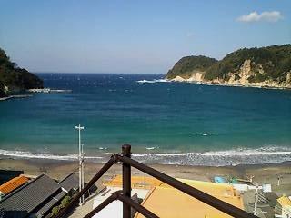 海が綺麗です。