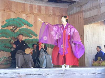 佐渡・大膳寺で開催された能舞台。大膳寺は私の高校時代の古文の先生の実家である