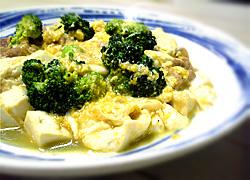 豆腐と卵の中華風