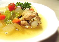 鶏のコンソメスープ