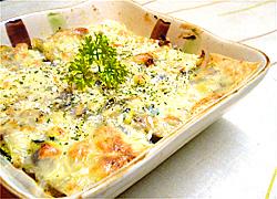 夏野菜のチーズ乗せ焼き