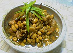 鶏と大豆の中華風煮込み