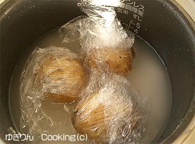 炊飯器で茹でポテト