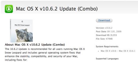 Mac OS X v10.6.2 Update