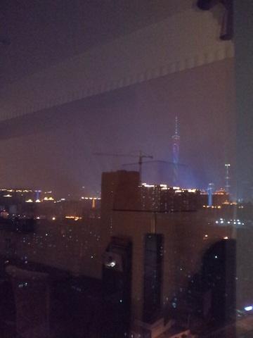 アジア大会 ホテル窓から
