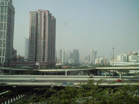 アジア大会 バスからの景色.2