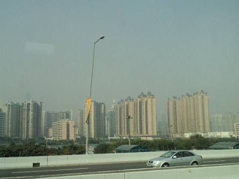 アジア大会 バスからの景色