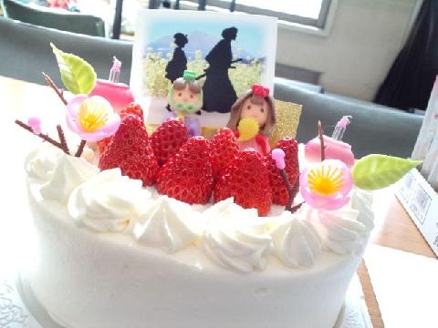 3月お雛さまケーキ