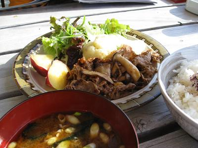 梅ソース肉炒め12.24