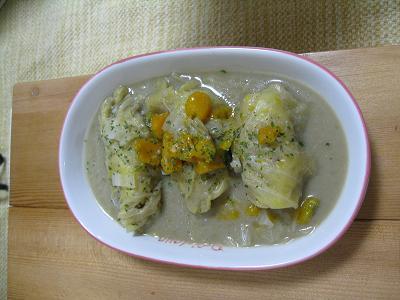 豆乳ロールキャベツ2.27