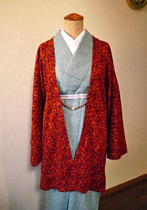 ニット茶羽織2