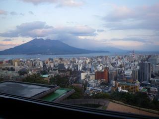 市内から桜島