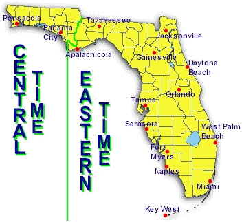 Florida Time Zone Map Best Florida Time Zone Map Photos   Printable Map   New  Florida Time Zone Map