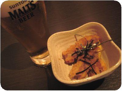 グラスビール+お通し