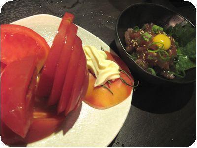 冷やしトマト&マグロユッケ